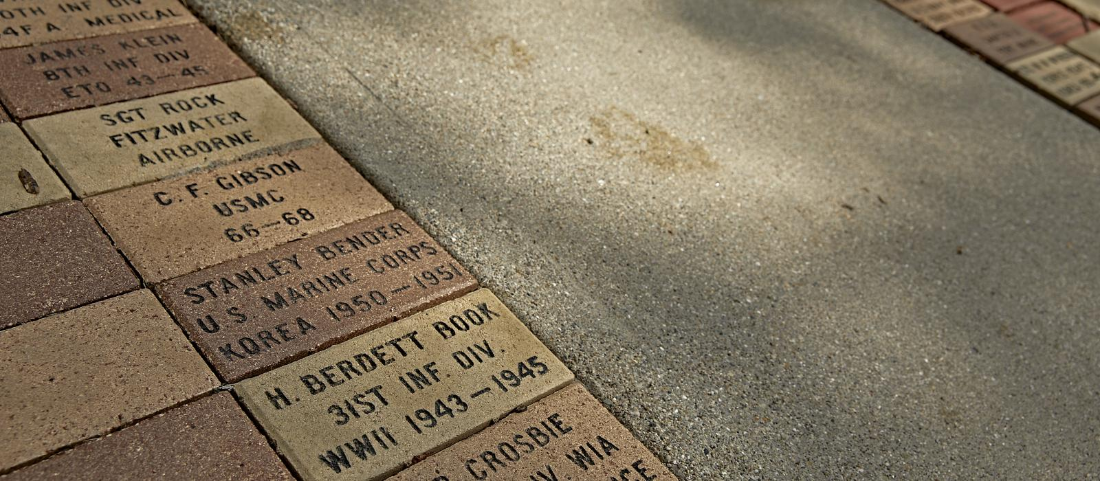 Memorial Bricks, pathway, honor, remember, Veterans Museum