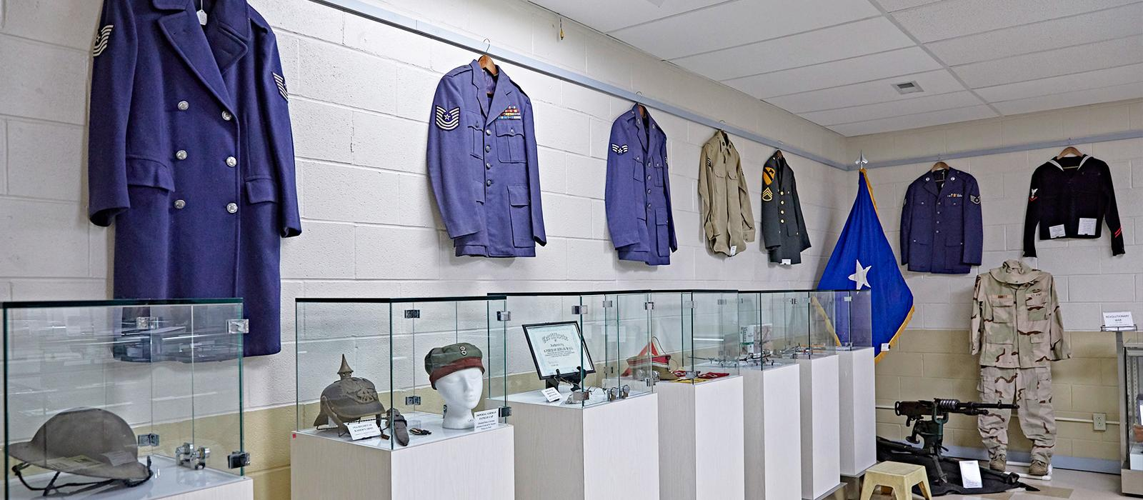 War uniforms, museum, displays